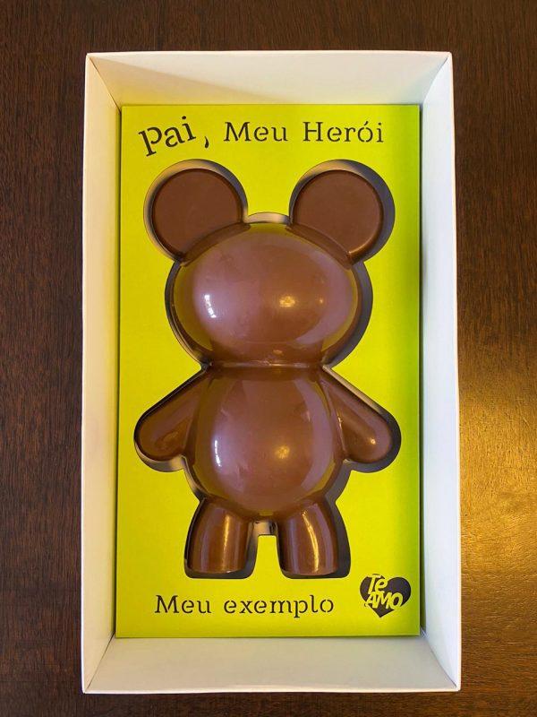 Caixa Urso de chocolate Porto Formas.iros com berço cortado a laser!